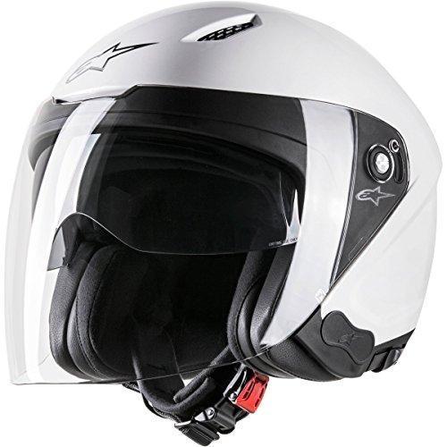 Alpinestars Novus Solid - Casco de moto, color blanco, XS