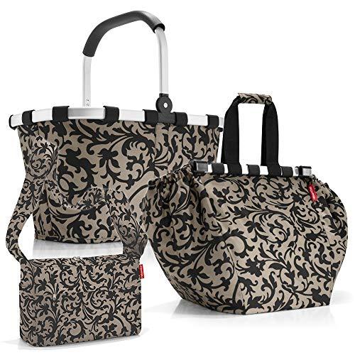 reisenthel carrybag mit Zugabe Einkaufskorb Einkaufstasche Shoppingtasche Korb Tasche (Baroque Taupe)