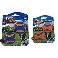 CHUCKIT Ultra Squeaker (2 Pack), Small & ltra Ball, Durable High Bounce Rubber Dog Ball, Launcher Co...