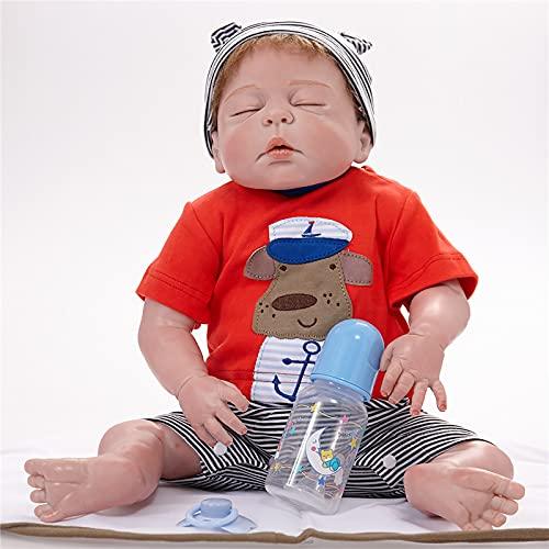 TTWLJJ Muñeca de simulació 58 Cm Renacer Muñeca Suave Muñeca De Goma Vinilo bebé Dulce niña Bebé Regalo de cumpleaños