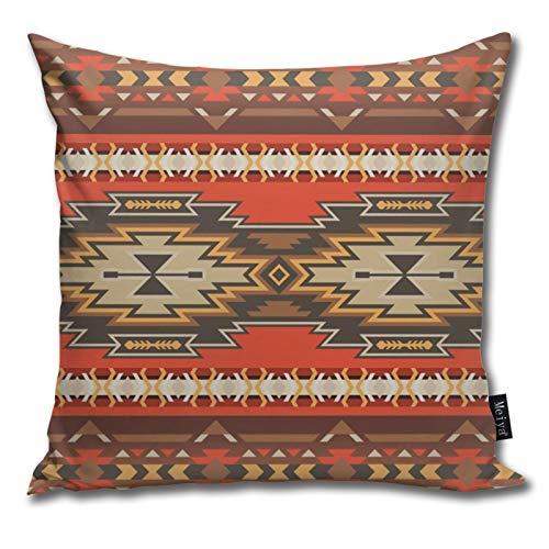 Native Southwest American Indian Aztec Navajo Throw pillow case 18x18 pollici decorativo federa da pavimento per divano letto sedia da camera 100% cotone fodera per cuscino federa 45x45cm 1 pezzo