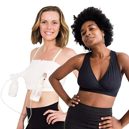 Hands Free Breast Pumping Bra | Small Lounge & Sleep Nursing Bra | Postpartum Essentials Bundle