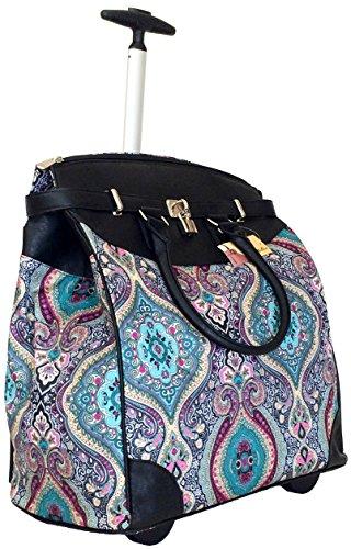 Trendy Flyer Computer/Laptop Rolling Bag 2 Wheel Case Taj Blue