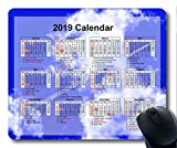 Yanteng Calendario 2019 con Cojines Importantes para Las Fiestas, Alfombrilla para ratón, Pintura de Cielo Estrellado Alfombrilla para ratón