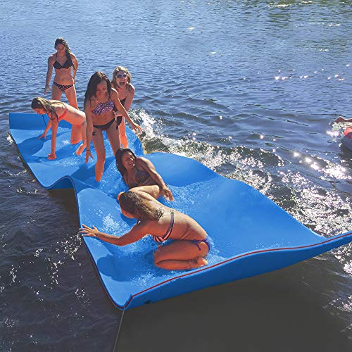 Max4out Floating Mat 12X6 Foam Lake Floats Floating Foam Pad (Blue) Lily Pad for Water Recreation and Relaxing