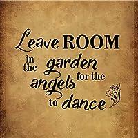 165新しいブリキの看板が天使のために庭に部屋を残しますか?面白いリラックスノベルティアルミニウム金属道路標識壁の装飾8x12インチ