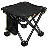 KingCamp Camping Stool Small Protable Backpacking Slacker Chair, BLACKSTRIPS, One Size (KC1903_BLACKSTRIPS_USVC)
