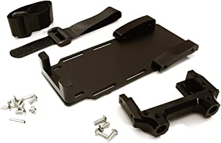Integy RC Model Hop-ups C28023BLACK Laydown Battery Tray w/Forward Servo Mount for Axial 1/10 SCX10 II (#90046-47)