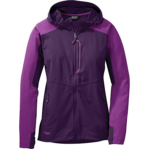Outdoor Research Women's Ferrosi Hooded Jacket, Elderberry/Wisteria, X-Small