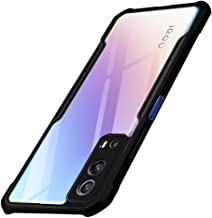 TheGiftKart Shockproof Crystal Clear iQOO Z3 5G Back Cover Case 360 Degree Protection Protective Design Transparent Back Cover Case for iQOO Z3 5G Black Bumper