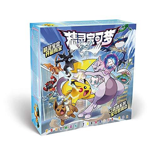 GUANGZHENG Pokemon Serie/Anime Gift Box Set/Anime Umgebung/mit Foto-Rahmen/Postkarte/Aufkleber/Lesezeichen/Armband/Abzeichen, Etc. / Geeignet for Erwachsene, Kinder und Otaku