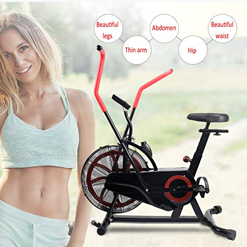 Shhjjyp Bicicleta De Ejercicio Air Assault Cardio Machine Fitness Cycle Heavy Duty Commercial Bike Full Body Gym Cross Fit Workout ⭐