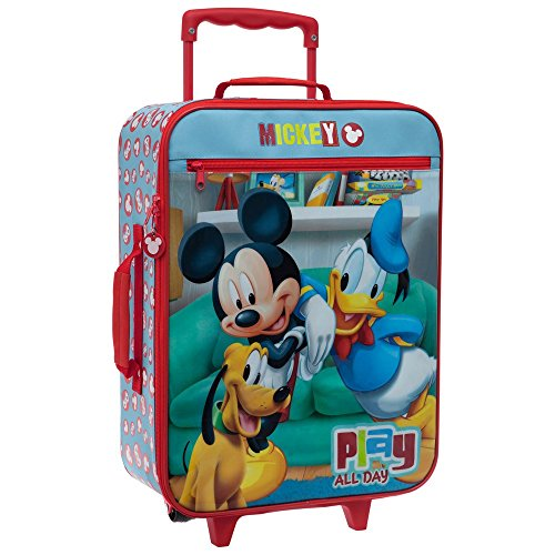 Disney Mickey Play Bagage Cabine, 50 cm, 31.5 L, Rouge