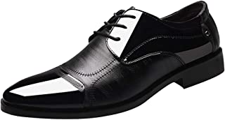 Mens Slip on Loafer Cap Toe Oxford Leather Lace Up Classic Comfortable Modern Formal Business Dress Shoes