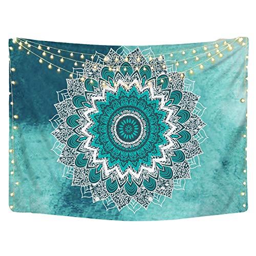 letaowl Tapiz creativo mandala patrón tapiz colgante de pared manta psicodédica playa Hippie colcha telón de fondo decoración del hogar 1