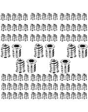 100 Stuks Insteekmoeren Met Schroefdraad, Ijzeren Zeskantmoer, M6 Inschroefmoeren, Insteekmoeren met Schroefdraad Interface Zeskantmoerinzetmoeren Bevestiging voor Hout