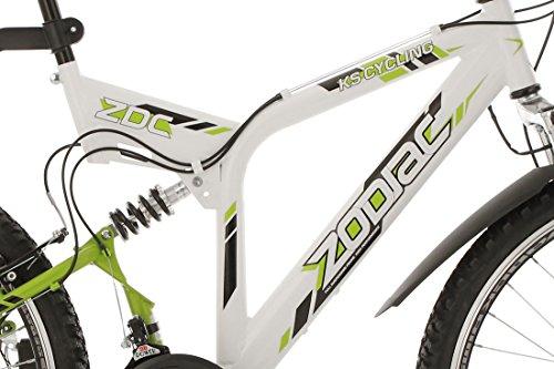 KS Cycling Fahrrad Mountainbike ATB 26 Zoll Zodiac weiß-Grün - 4