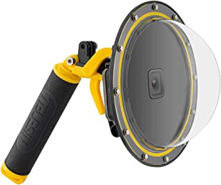 TELESIN Dome Port for GoPro Hero 8 Black, Underwater Dive Case Camera Lens Cover with Waterproof Housing, Pistol Trigger, ...
