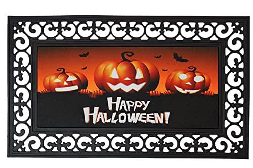 ForestScape Halloween Decorative Doormat, Outdoor Holiday Doormat, Pumpkin Doormat, Fall Doormat