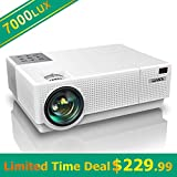 Best Tv Projectors - Projector, YABER Native 1920x 1080P Projector 7000 Lux Review