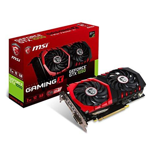 MSI GeForce GTX 1050 Gaming X 2G Scheda Grafica, Interfaccia PCIe 3.0, 2 GB GDDR5, 128bit, 640 Cuda Cores, Nero