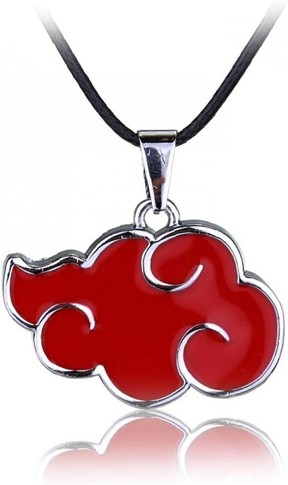 Red Cloud Shape Pendant Necklace Narut Akatsuki Member Necklace Pendant Jewelry Accessories
