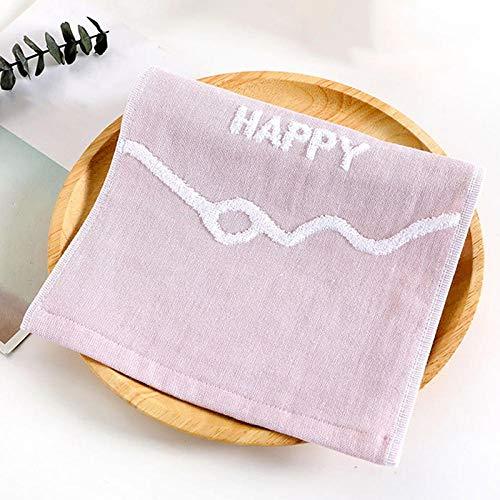xingshen Toalla de Saliva para bebé Toalla de Gasa pañuelo Babero recién Nacido niño paño de Lana Bufanda Bufanda Cara Toalla Facial Lavar Cosas-Rosa