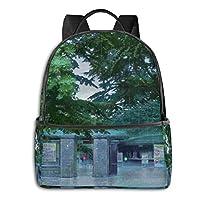 大容量 防水言の葉の庭 (1) リュックサック 登山リュック ノートpc収納対応 多機能バッグ 出張 旅行 通学 通勤 軽量 カスタム 個性的なリュックサック