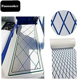 Foammaker Marine Decking 28 inches x 75 inches Eva Faux Teak Diamond Sheet UV-Resistant Boat Deck Mat
