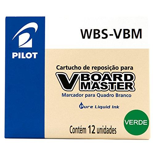 RECAMBIO ROTULADOR PILOT VBOARD MASTER TINTA LIQUIDA VERDE (12 unid.)