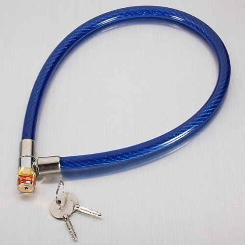 Well-Goal Bicycle Bike Cable Locker Ring with 2 Keys Random Color by Well-Goal