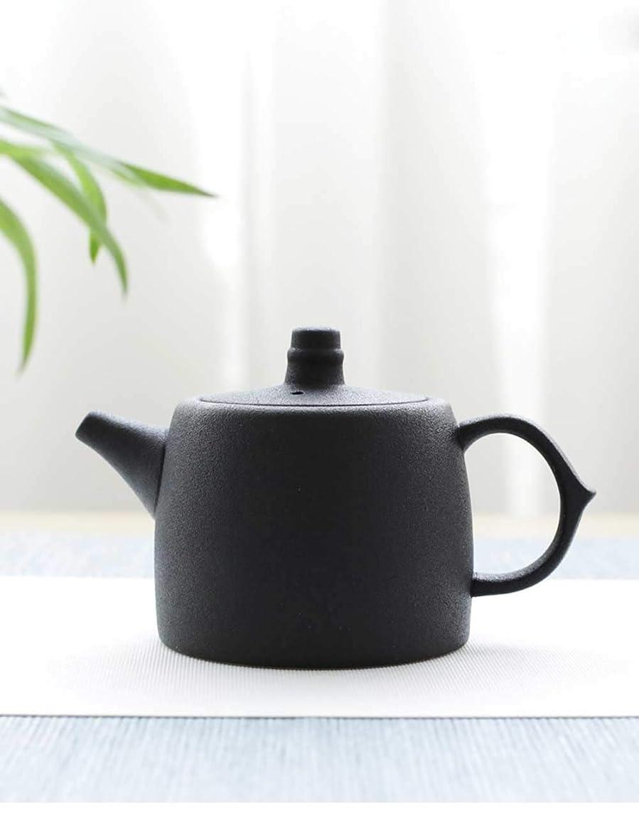 偉業コカイン失業陶器 急須お茶ポット おしゃれ 磁器 ティーポット 紅茶 琺瑯 おしゃれ 黒(250cc)