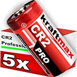 kraftmax 5er Pack CR2 Lithium Hochleistungs- Batterie für professionelle Anwendungen - Neueste Generation