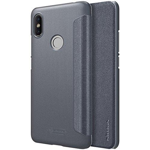 HUILIAN Casse del telefono mobile & Cover, Custodia in pelle a vibrazione orizzontale Nillkin per Xiaomi Redmi S2 (Colore : Grigio)