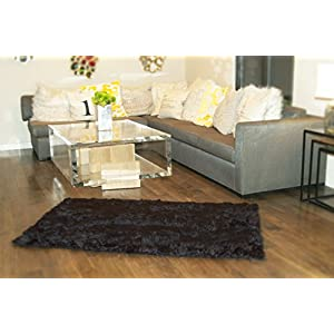 10′ X 10′ New Premium Black Shag Faux Fur Area Rug Room Decor Home Accents Shaggy Contemporary Modern Shag Carpet Throw Rug