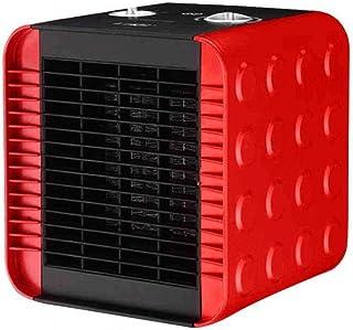 CN Mini Calefactor Doméstico Calefactor de Mesa Calentador Eléctrico Calentador Eléctrico Ventilador Pequeño Calefacción Y Enfriamiento Aire Acondicionado Pequeño Ventilador de Calefacción,Rojo,1