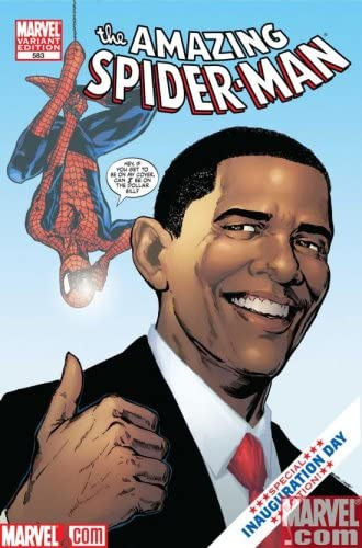 AMAZING SPIDERMAN 583 1st Printing OBAMA VARIANT BLUE BACKGROUND SOLD OUT EVERYWHERE 1st PRINT product image