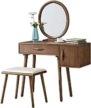 Vanity Table Set,Bedroom Villa Furniture,2 in 1 Makeup Vanity Desk, All Solid Wood Dressing Table, Ash Wood Dressing Table...