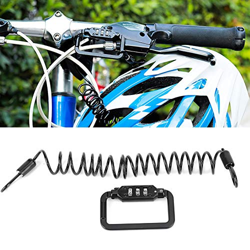 Bike Helmet Lock, Multifunction Telescopic Cable Helmet Lock for Bike Helmet