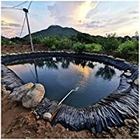 プールライナー 人工池用防水 魚のいる池、小川の噴水、水生庭園の池に適したPVCの魚のいる池のライナーの引き裂きに強い膜の防水池の防水シート (Color : 40S, Size : 4x4M(13.1x13.1ft))