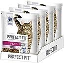 Perfect Fit Adult 1+ ? Trockenfutter für erwachsene Katzen ab 1 Jahr ? Reich an Lachs ? Unterstützt die Vitalität ? 4 x 1.4 kg