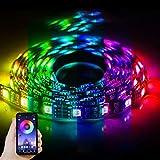 SBDD Tiras LED Tira de LED Bluetooth Tiras LED Atmósfera del hogar Tira de luz Decoración Autoadhesiva Fondo de TV Color cambiante de colores Escritorio(Clase energética A +++) 120LED/2M Rgb.