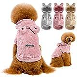 Yumech Mono con Capucha para Perros Lindo Diseño de Oreja de Oso Polar Cálido Suéter Abrigo Pijamas para Perros Trajes de Pijama Disfraz de Perrito Ropa para Perros Pequeños Y
