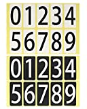数字 シール 白黒セット ユポ ナンバー ステッカー 22M091 中 ラベル 番号 PP加工 防水 耐候性 屋外 22 44mm 片 0 9の10種各1片 白黒各1シート 22M091