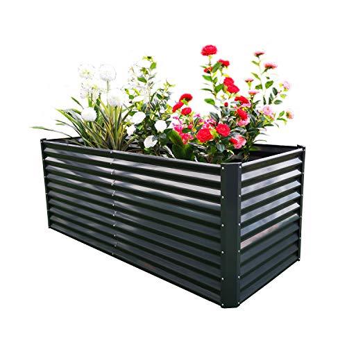 Brown and Black Duramax Rectangle Garden Bed Flores Ganadero