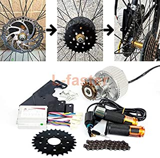 L-faster 24V36V 450W Bike Conversion Kit for Disc Brake Rotor Left Side Mounting Bicycle Motor Kit with Thumb Throttle