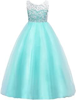 tiffany blue flower girl dress
