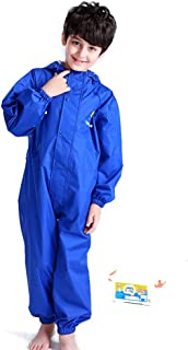 Lixada Kids Raincoat Breathable Rainwear Waterproof Raincoat For Children Boys Girls Students Rainsuit Hooded High Visibil...