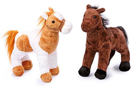 """small foot 4141 Pferde """"Penny und Molly"""" aus Stoff, Kuscheltiere im 2er Set, kuschelweiche Begleiter aus Plüsch"""