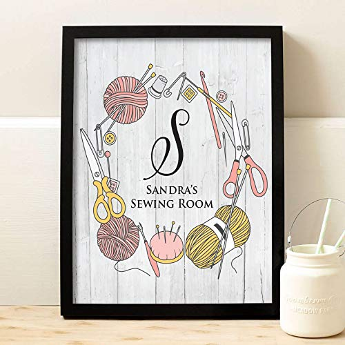 Amazon.com: Personalized Sewing Print  Craft Room Decor  Sewing